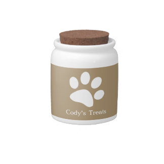 Taupe  |  Dog Treat Jars