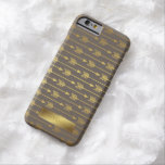 Taupe Faux Gold Foil Arrows Pattern Barely There iPhone 6 Case