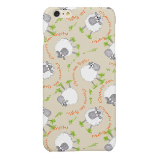 Taupe Fun Welsh Sheep Wales Forever Cymru am Byth Glossy iPhone 6 Plus Case