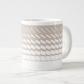 Taupe geometric kinetic art graphics large coffee mug