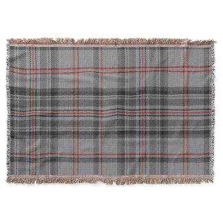Taupe Gray Black Red Giant Tartan Plaid Throw Blanket