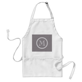 Taupe Gray High End Colored Personalized Adult Apron
