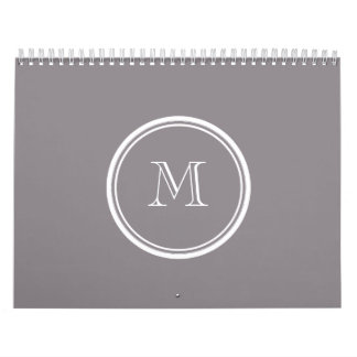 Taupe Gray High End Colored Personalized Calendar