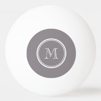 Taupe Gray High End Colored Personalized Ping Pong Ball