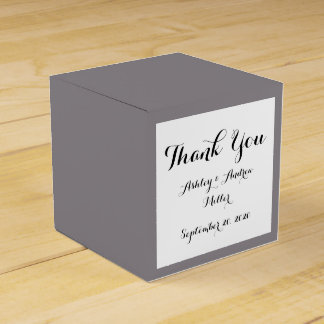 Taupe Gray High End  Solid Colored Favor Box