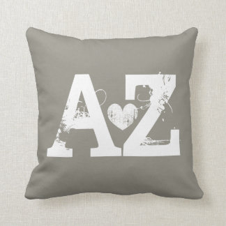 Taupe Home sweet home Arizona heart throw pillow