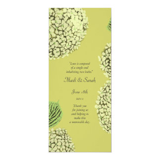 Taupe Hydrangea Wedding Program