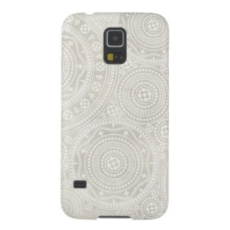 Taupe Ivory Lace Doily Neutral Mandala Print Galaxy S5 Case