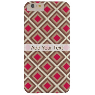 Aztec Themed Taupe, Light Taupe, Hot Pink Ikat Diamonds STaylor Barely There iPhone 6 Plus Case