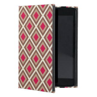 Taupe, Light Taupe, Hot Pink Ikat Diamonds STaylor Cover For iPad Mini