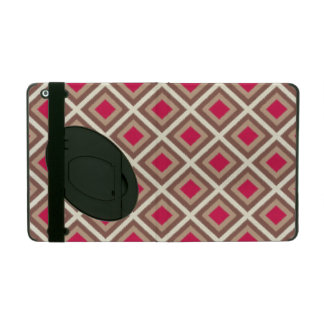 Taupe, Light Taupe, Hot Pink Ikat Diamonds STaylor iPad Folio Case