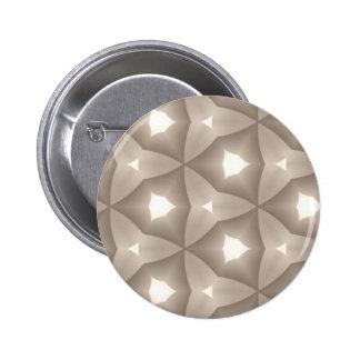 Taupe Modern Hexagon Fractal Button