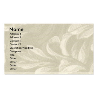 Taupe Nature Business Cards