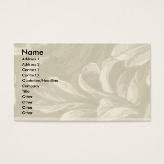 Taupe Nature Business Card