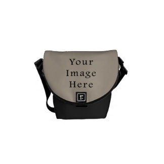 Taupe Neutral Color Trend Blank Template Courier Bag