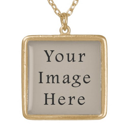 Taupe Neutral Color Trend Blank Template Personalized Necklace
