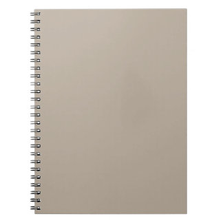 Taupe Neutral Color Trend Blank Template Notebooks