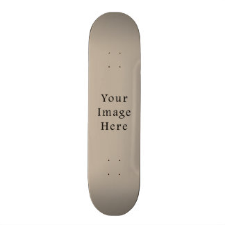 Taupe Neutral Color Trend Blank Template Skateboard Deck