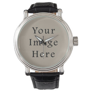Taupe Neutral Color Trend Blank Template Watch
