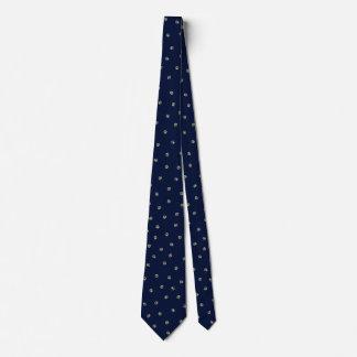 Taupe-on-Navy Pawprint Tie