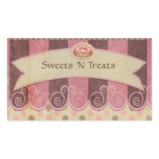 Taupe Pink Bakery Business Cards