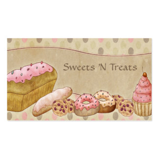 Taupe Pink Cakes Bakery Double-Sided Standard Business Cards (Pack Of 100)