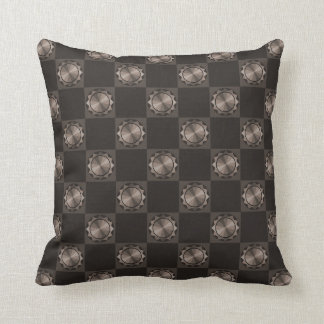 Taupe Pinwheel Medallions Pillow