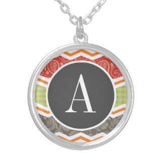 Taupe Red Green and Orange Cute Country Pendant