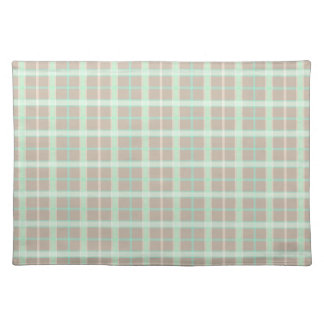Taupe & Seafoam Plaid Placemat