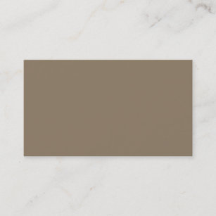 Taupe solid color business cards templates zazzle taupe solid color business card reheart Image collections