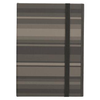 Taupe stripes iPad air cover