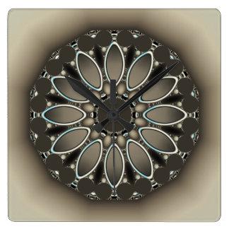 Taupe Three Dimensional Effect Art Clock