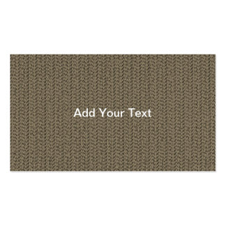 Taupe Weave Pattern Image Business Card Templates