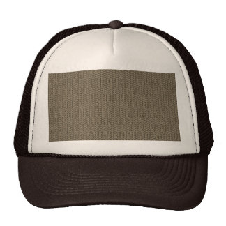 Taupe Weave Pattern Image Trucker Hats