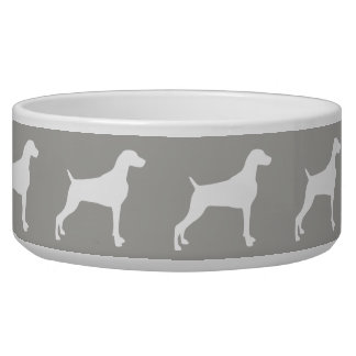 TAUPE WEIMARANER SILHOUETTE LARGE DOG BOWL