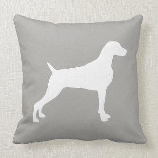 "TAUPE WEIMARANER SILHOUETTE THROW PILLOW 20"" x 20"""