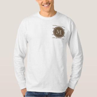 Taupe White Aztec Arrows Monogram T-Shirt
