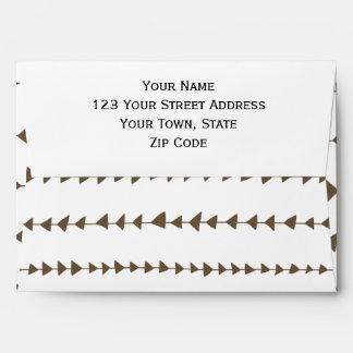Taupe White Aztec Arrows Pattern Envelope