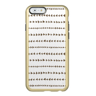 Taupe  White Aztec Arrows Pattern Incipio Feather® Shine iPhone 6 Case