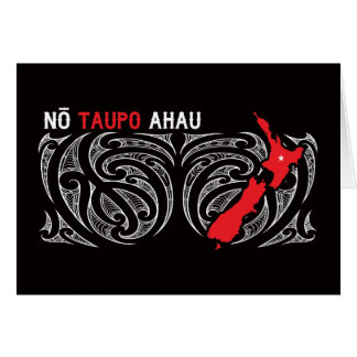 Taupo Aotearoa Map Pin Drop Card