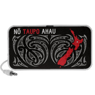 Taupo Aotearoa Map Pin Drop Portable Speaker