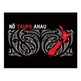 Taupo Aotearoa Map Pin Drop Postcard