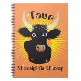 Taur 21 avrigl fin 20 matg Carnet there note IAS Spiral Notebook