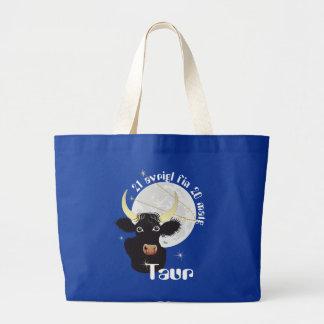Taur 21 avrigl fin 20 matg Tastga - Satg Large Tote Bag