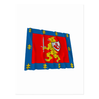 Taurage County Waving Flag Postcard