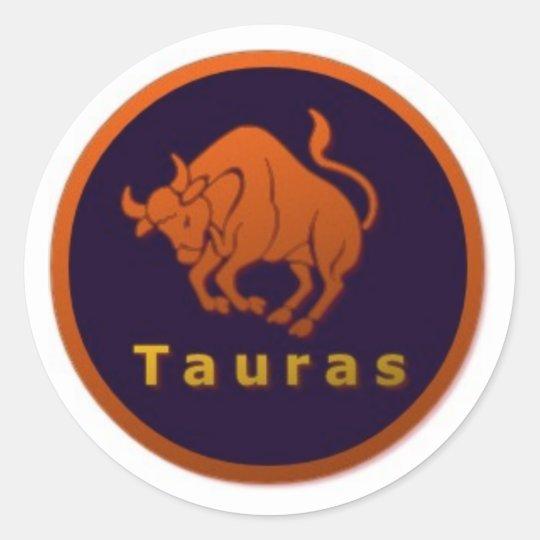 Tauras Star sign Classic Round Sticker