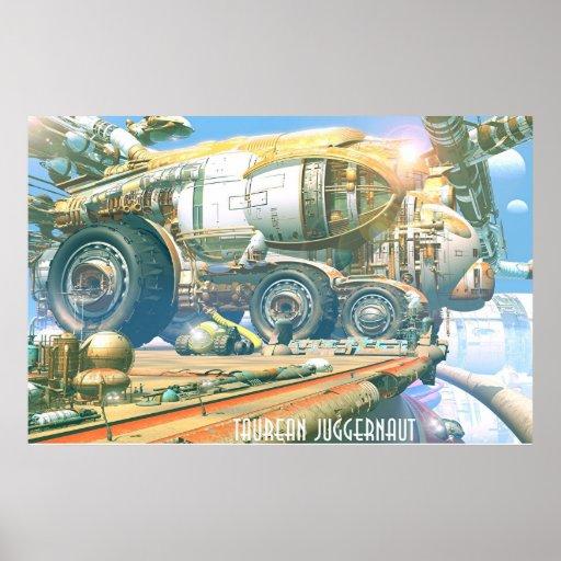 Taurean Juggernaut Poster