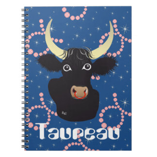 Taureau 21 avril outer 20 May Carnets Spiral Notebook
