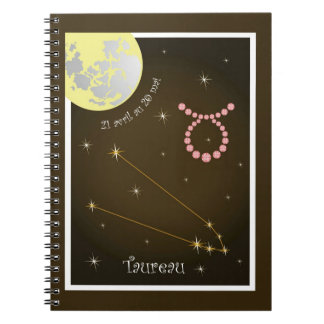 Taureau 21 avril outer 20 May note booklet Spiral Notebook