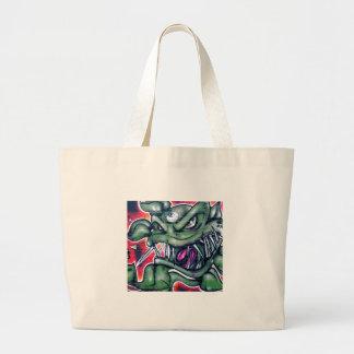 Taurian - Evil Plant Spray paint Art Graffiti Jumbo Tote Bag